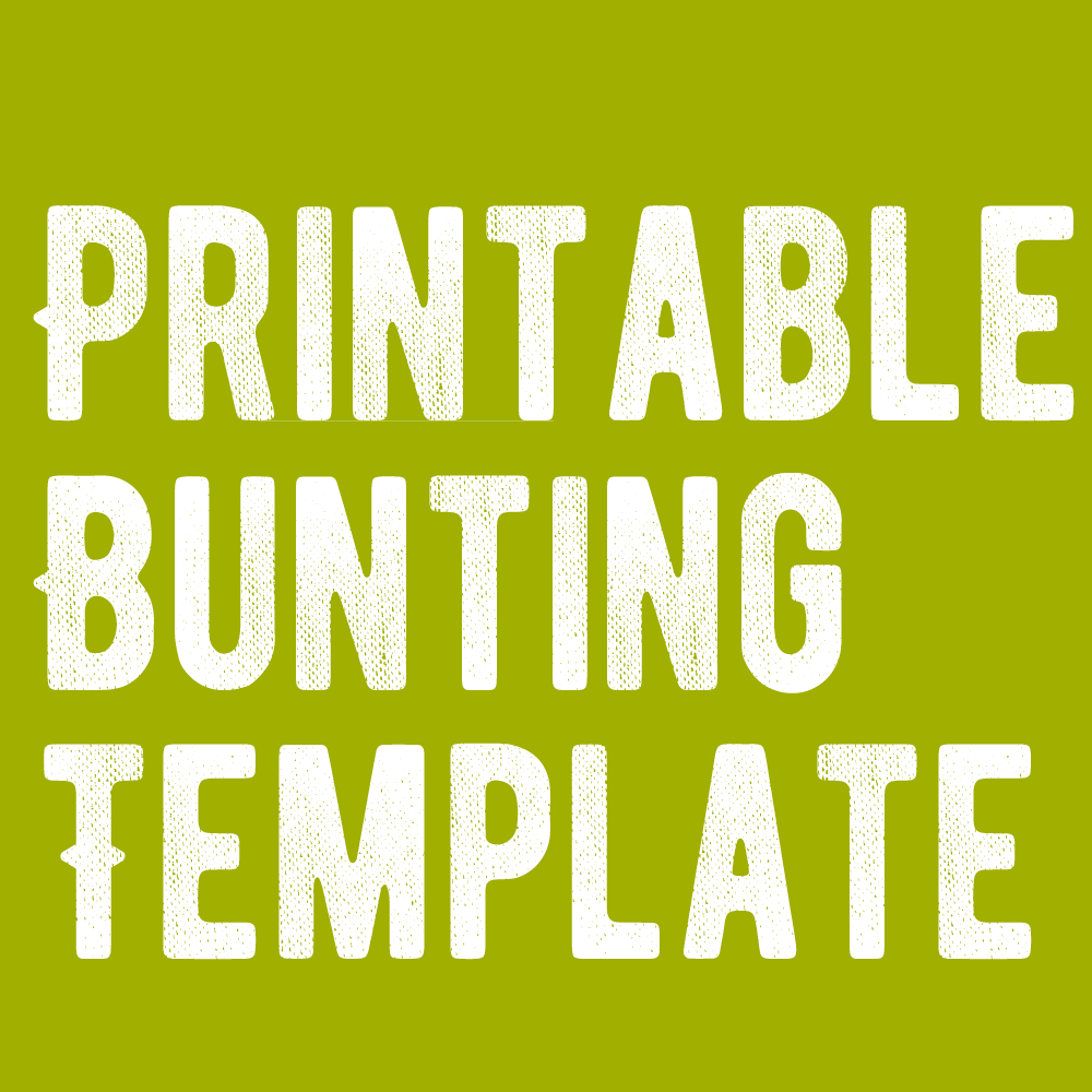 Free Blank Bunting Template