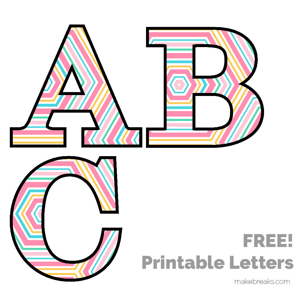Spring Easter Pattern Free Printable Letters