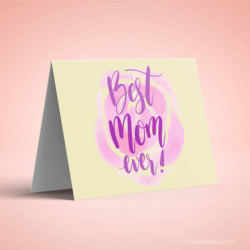 Free Printable Mother's Day Card 2