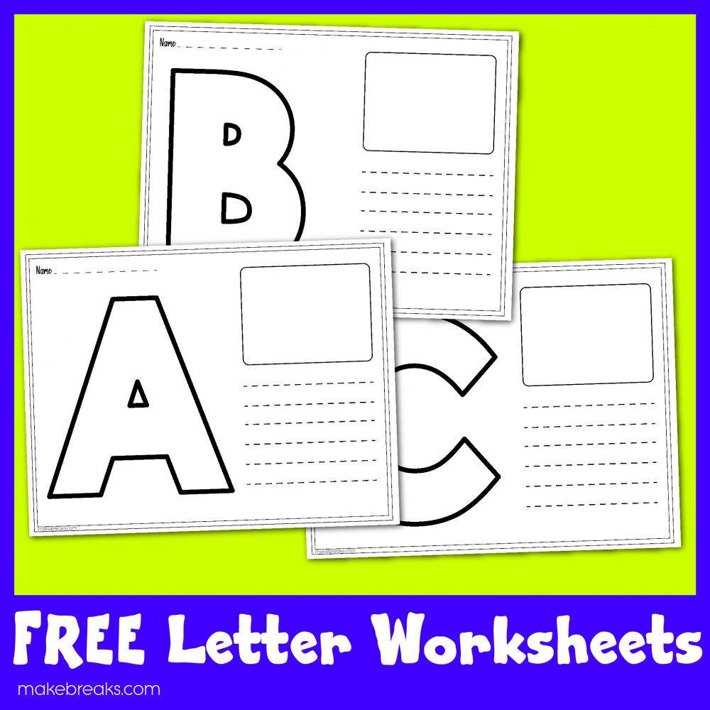 Free Letters Worksheets For Teachers