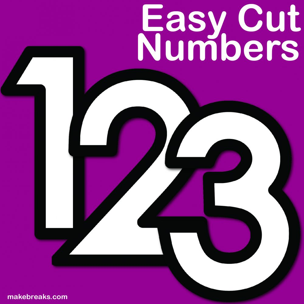 Easy Number Letter Template – Printable Numbers