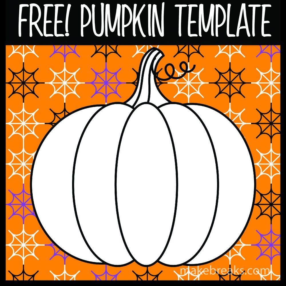 Free Halloween and Thanksgiving Pumpkin Template