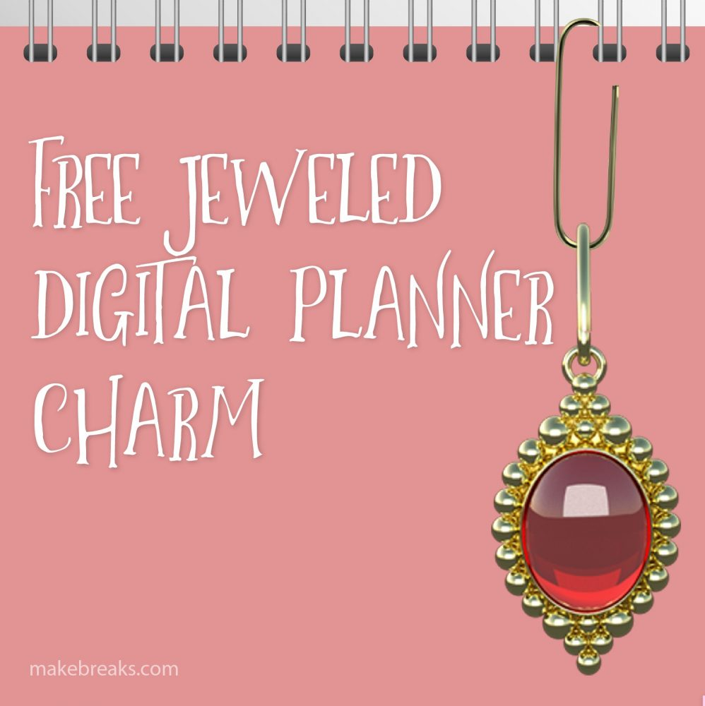 Free Ruby Digital Planner Paperclip Charm
