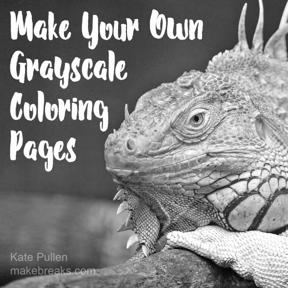 How to Make Your Own Grayscale Coloring Pages