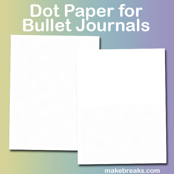 Free Printable Dot Paper for Bullet Journal Page