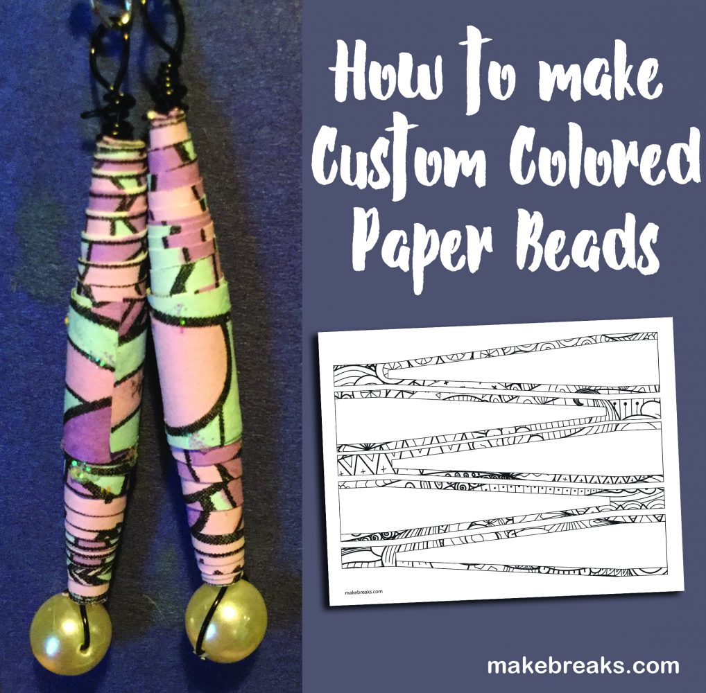 How to Make a Custom Colored Paper Beads