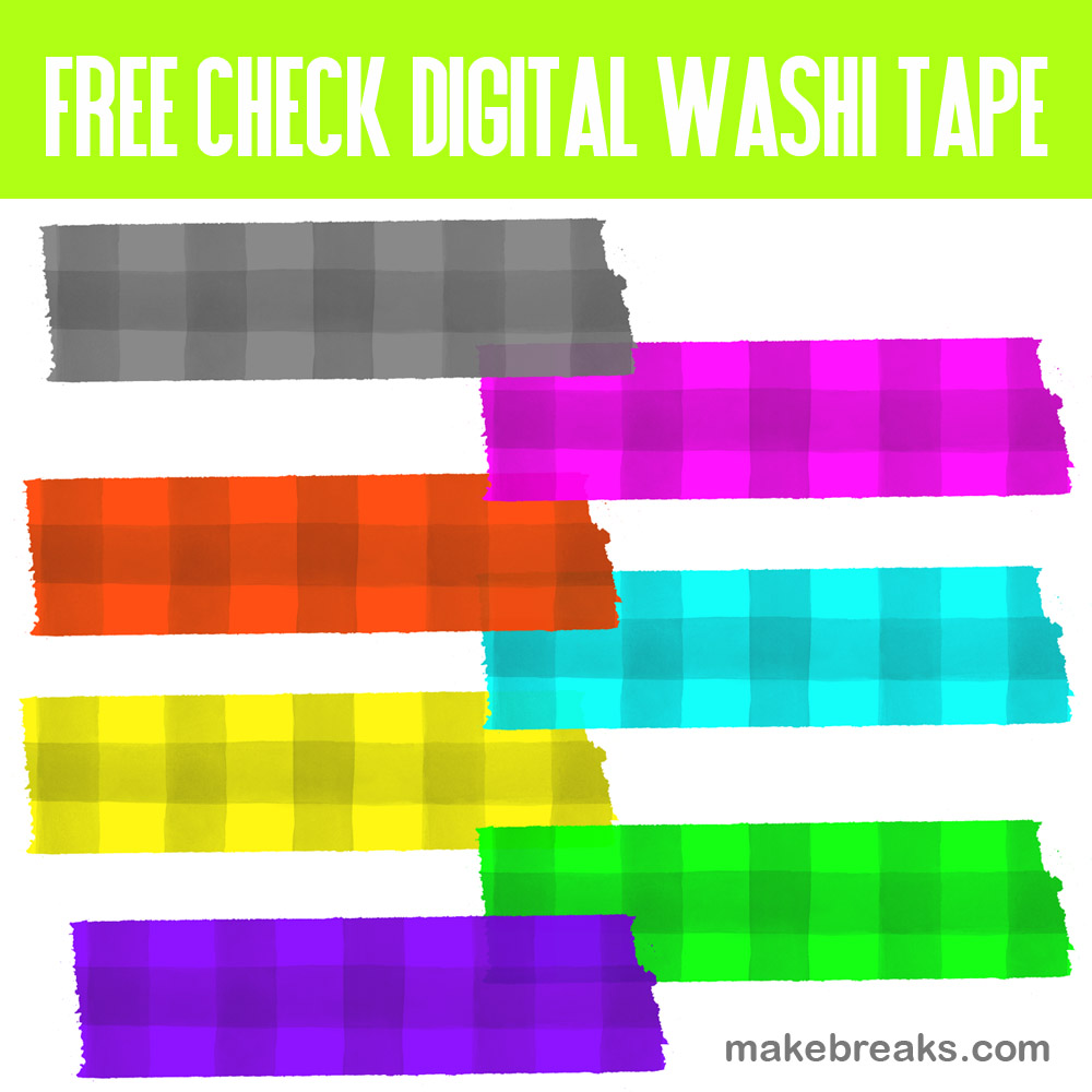 Check Pattern Digital Washi Tape for Digital Planners