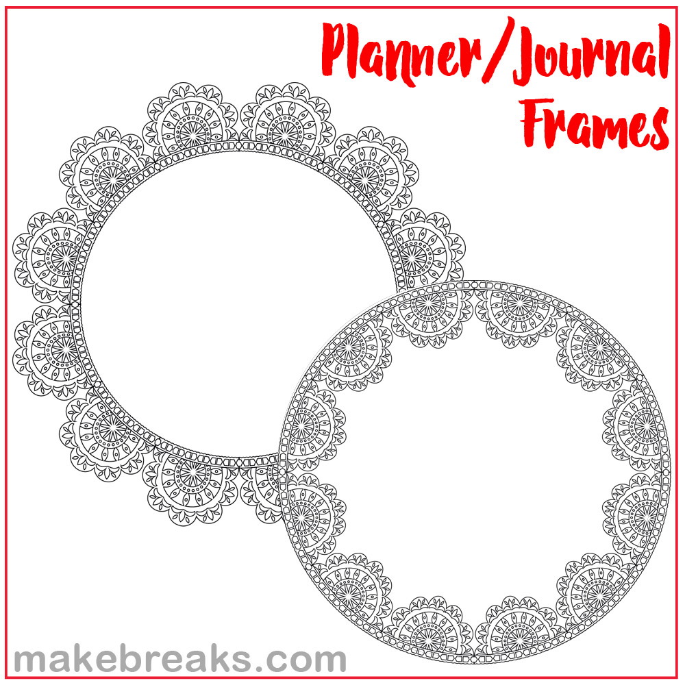 Lace Circular Planner and Journal Frames