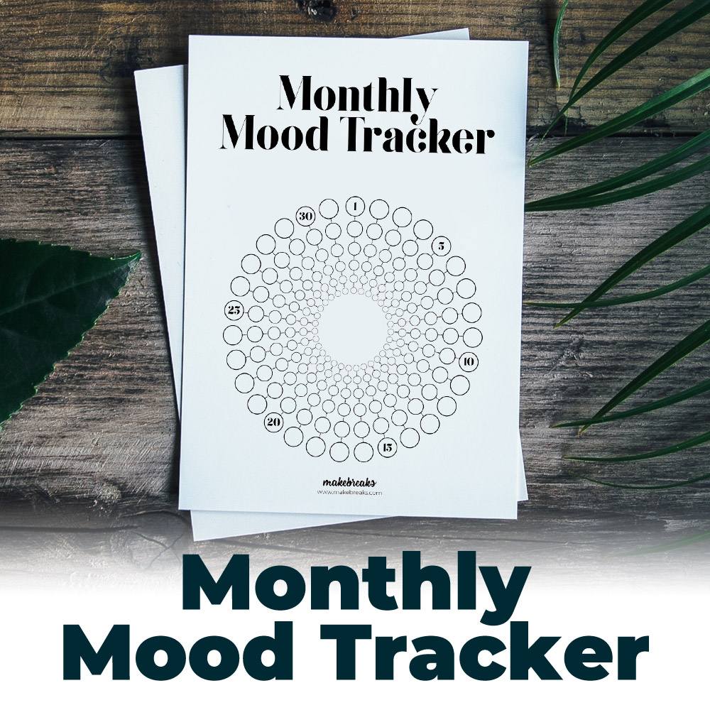 Free Mood Tracker for Bullet Journals and Planners