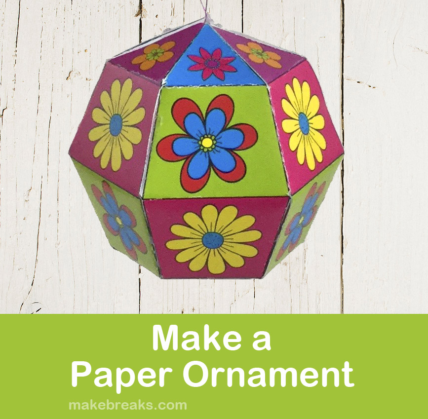 Tutorial: Make a DIY Folded Paper Ornament (With Free Template)
