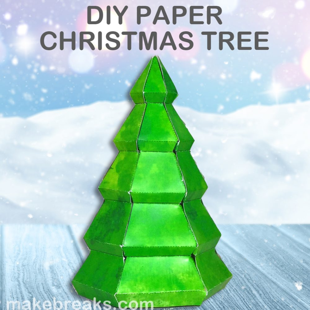 Tutorial: Make a Paper Christmas Tree (With Free Template)