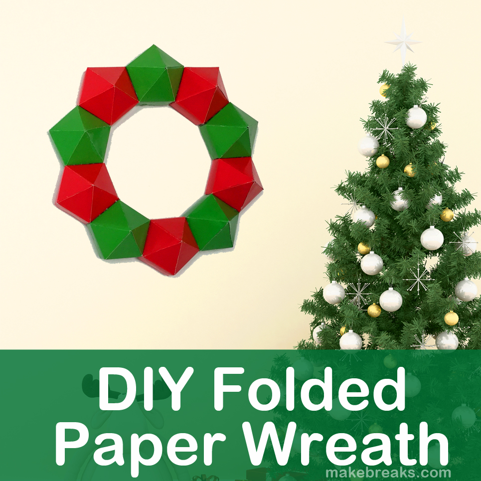 DIY Folded Paper Wreath with Free Template Tutorial