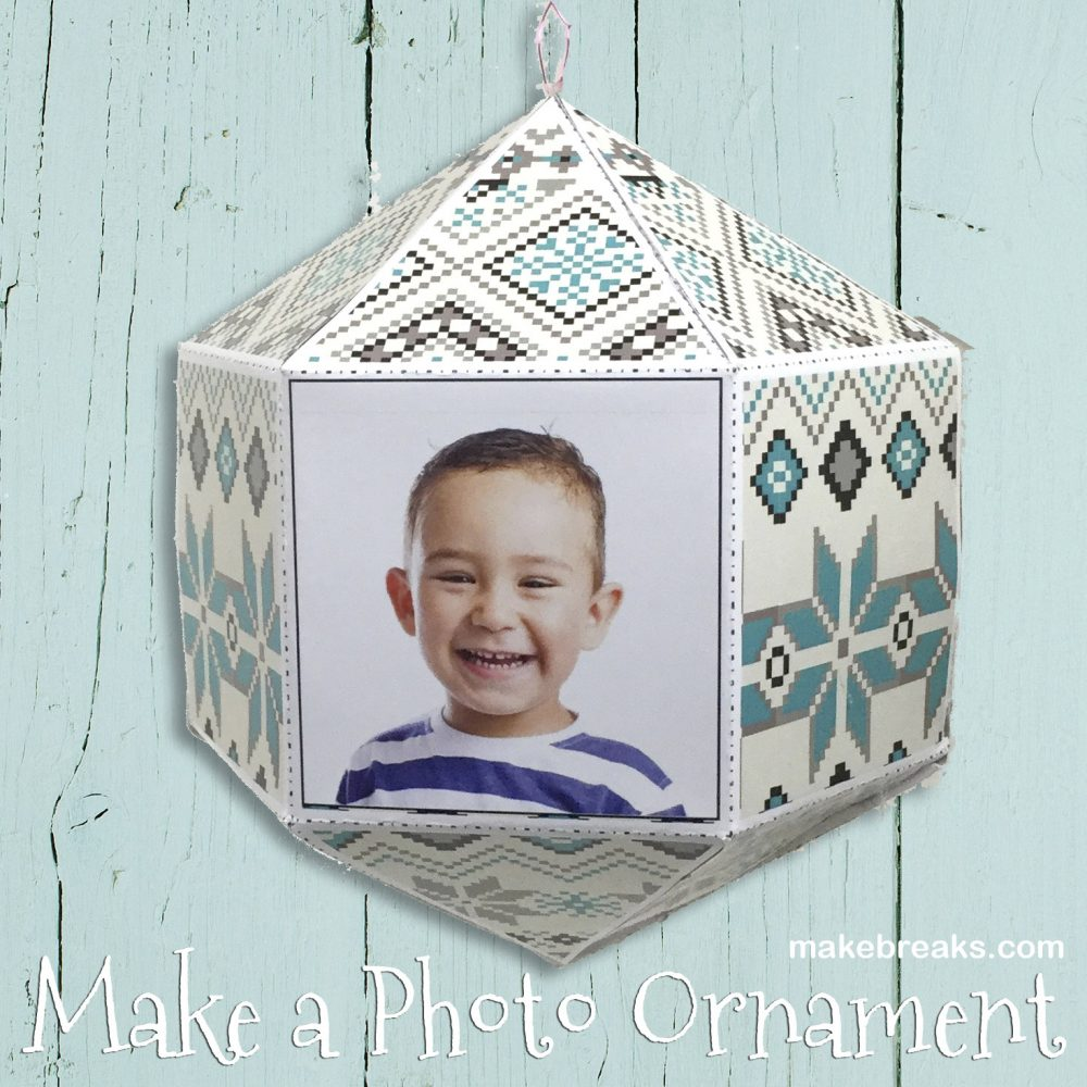 Tutorial: Make a DIY Folded Paper Photo Ornament (With Free Template)