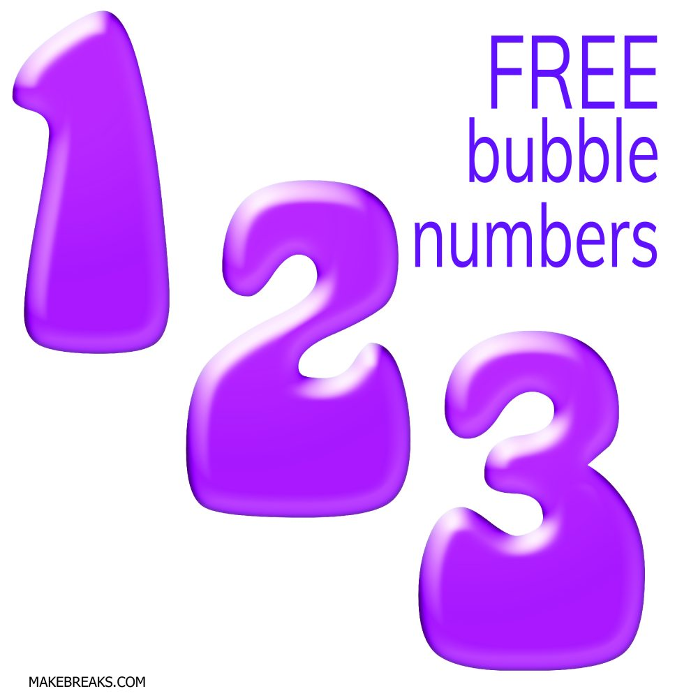 Free Printable Bubble Numbers