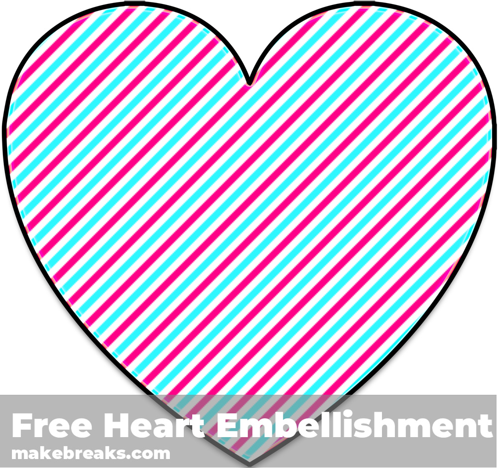 Free Striped Heart Templates Candy 1
