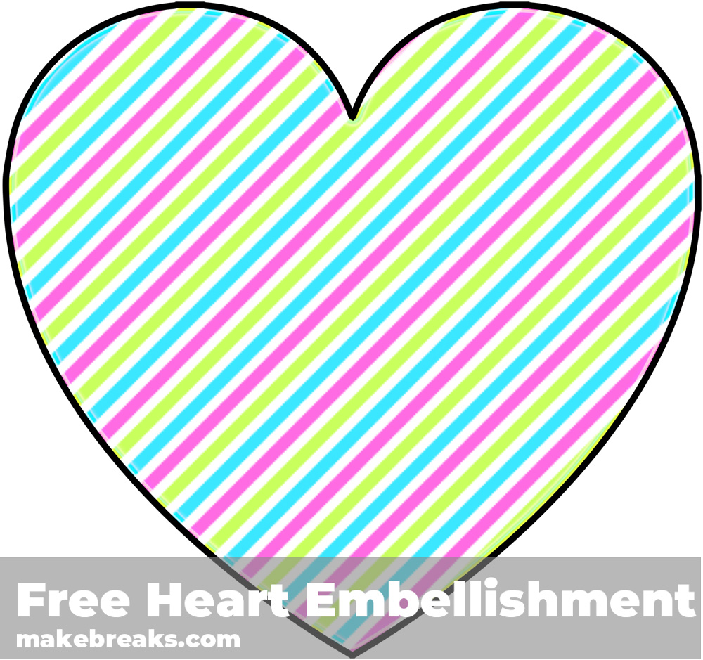 Free Striped Heart Templates Candy 2