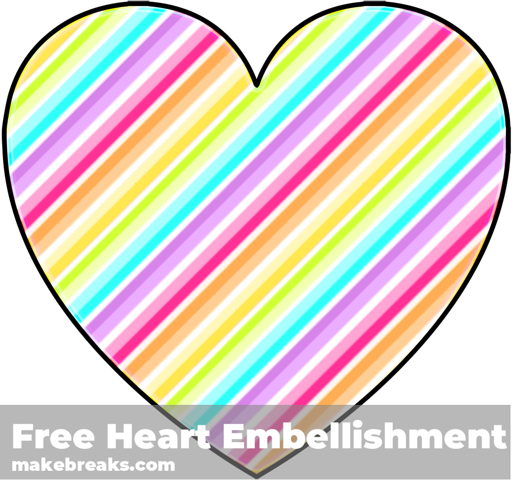 Free Striped Heart Templates Candy 3