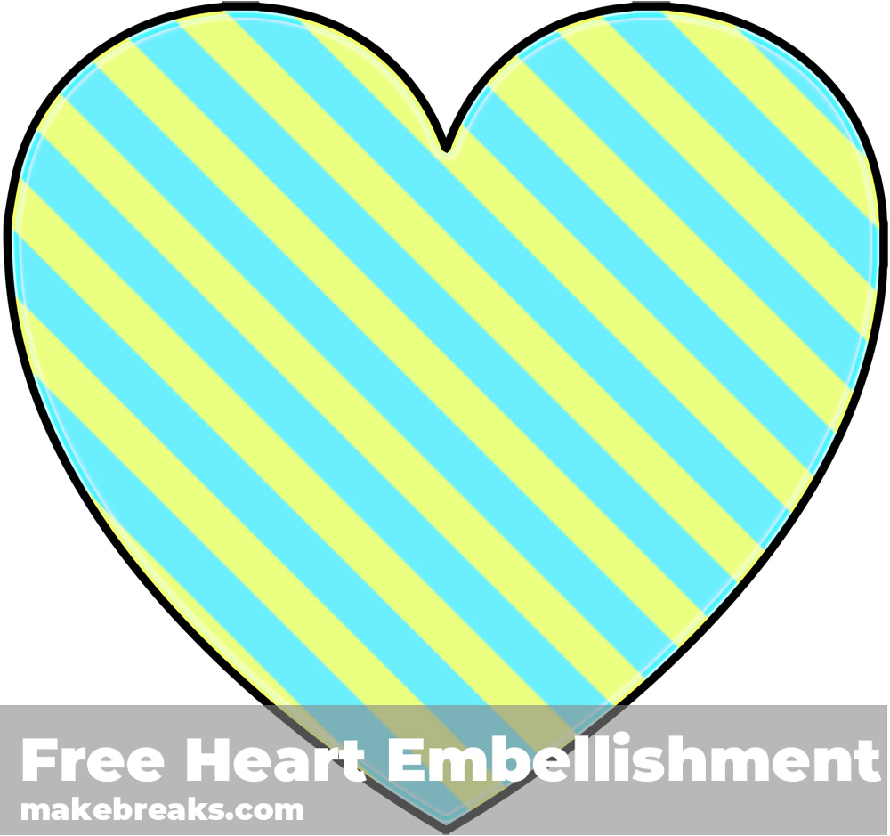 Free Striped Heart Templates Candy 4