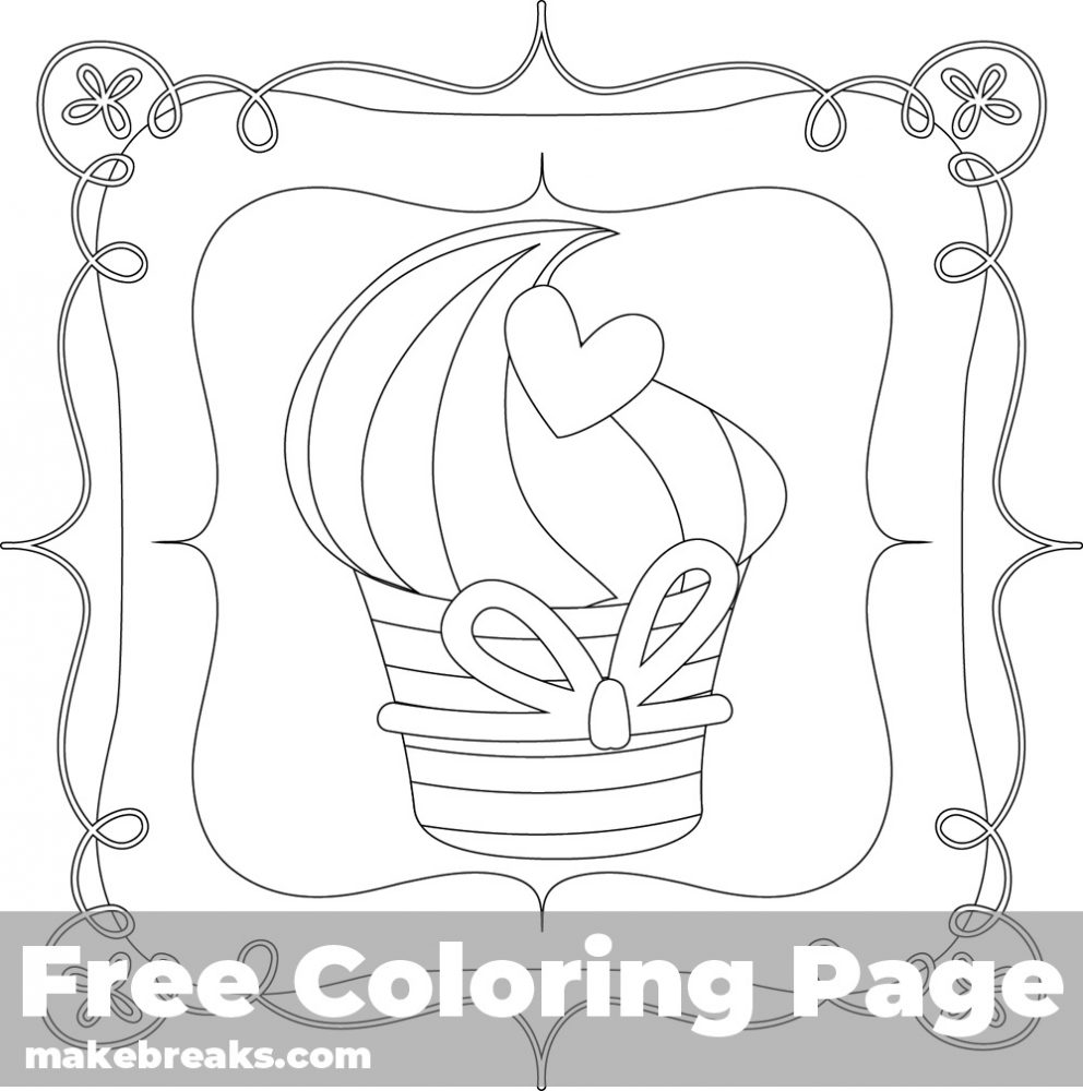 Printable Elegant Snobbery Coloring Pages   Cupcake coloring pages ...   1000x992