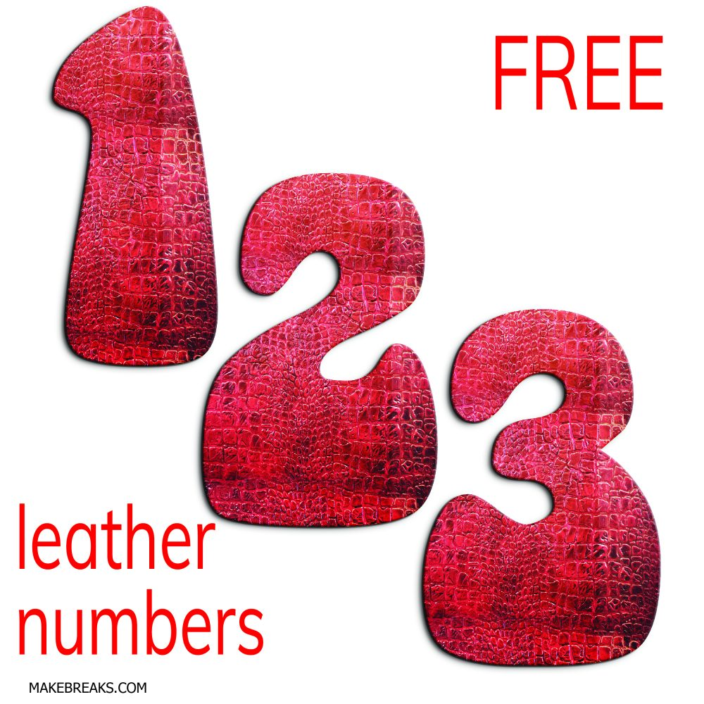 Free Leather Effect Printable Numbers