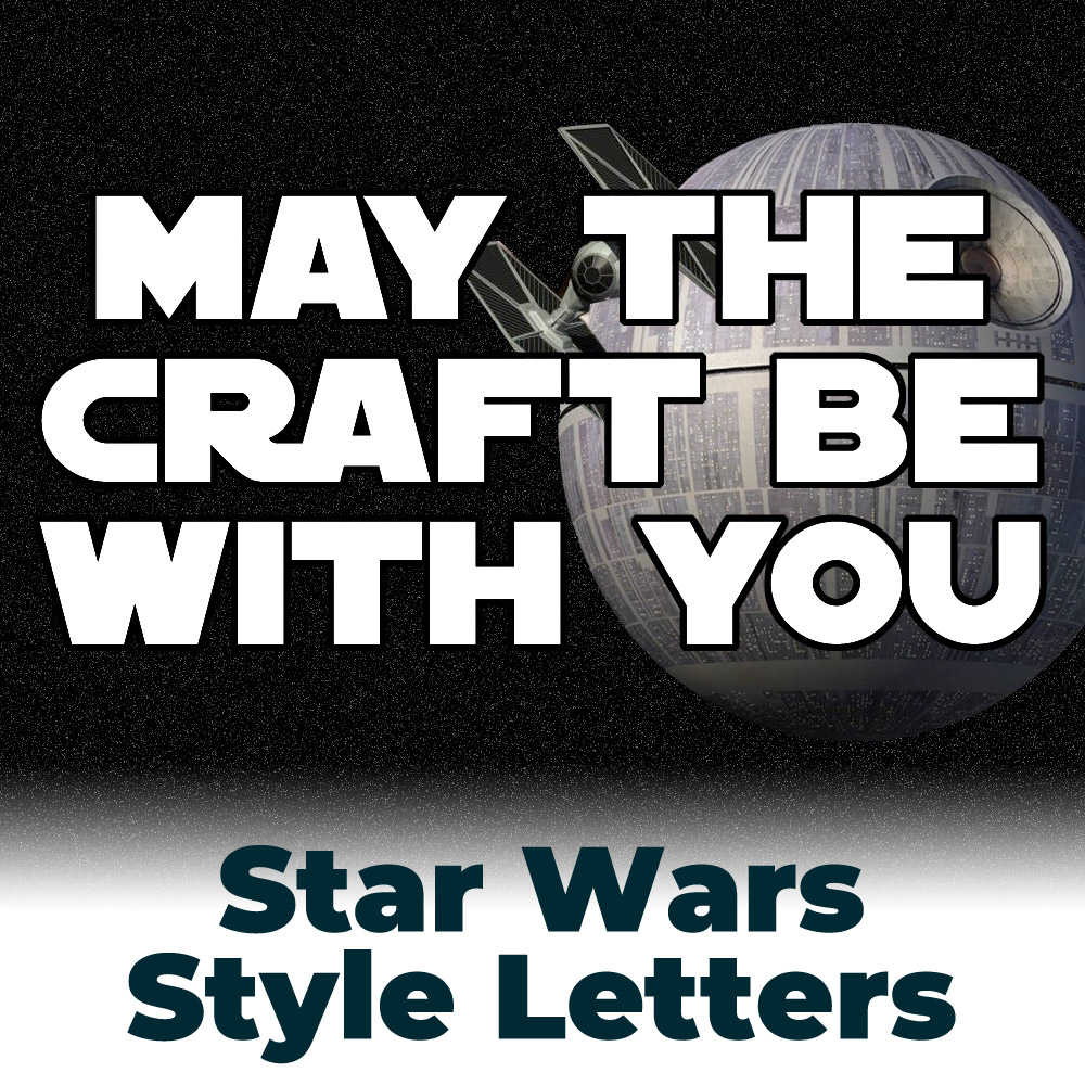 Free Star Wars Style Outlined Letters