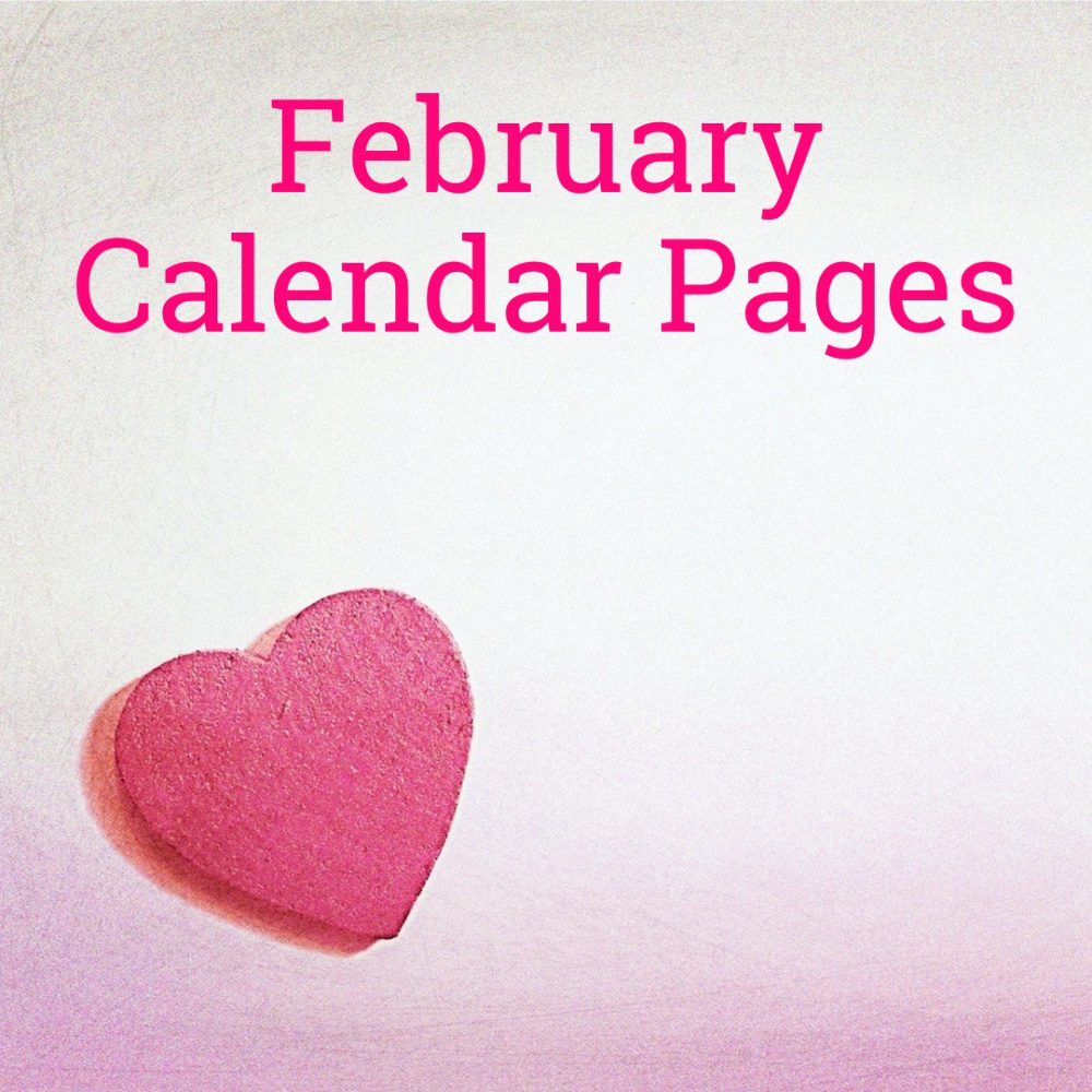 February 2019 Calendar Pages