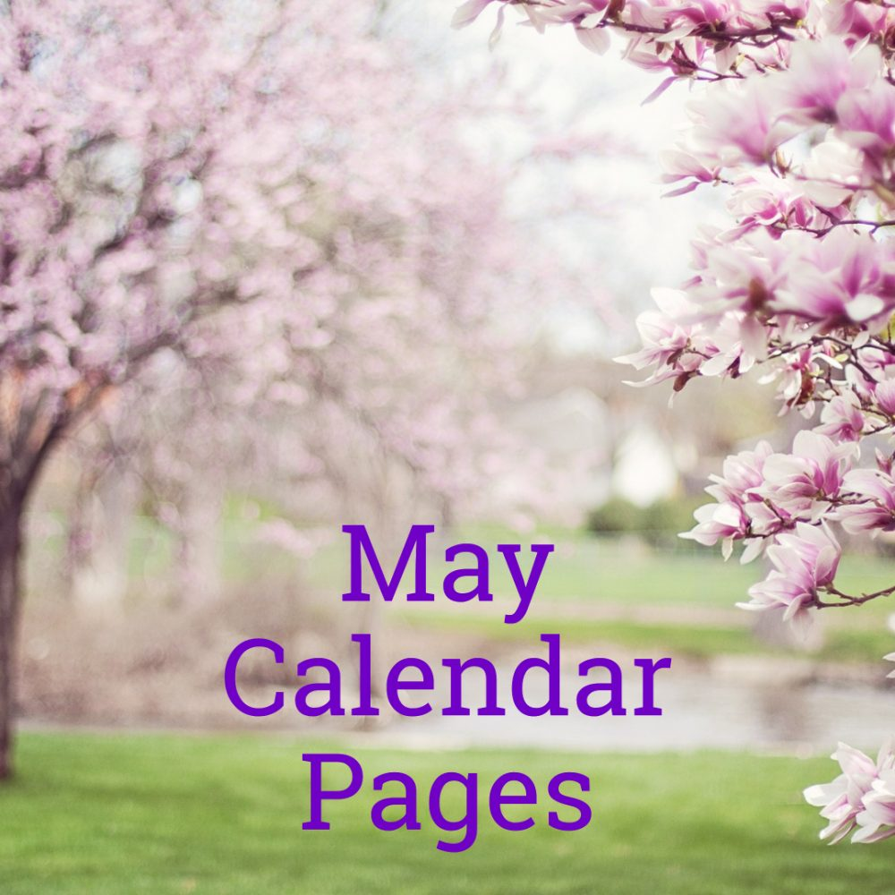 May 2019 Calendar Pages