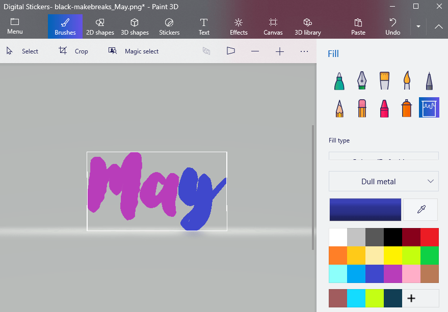 How to Recolor Digital Planner Stickers For Free Using Microsoft Paint