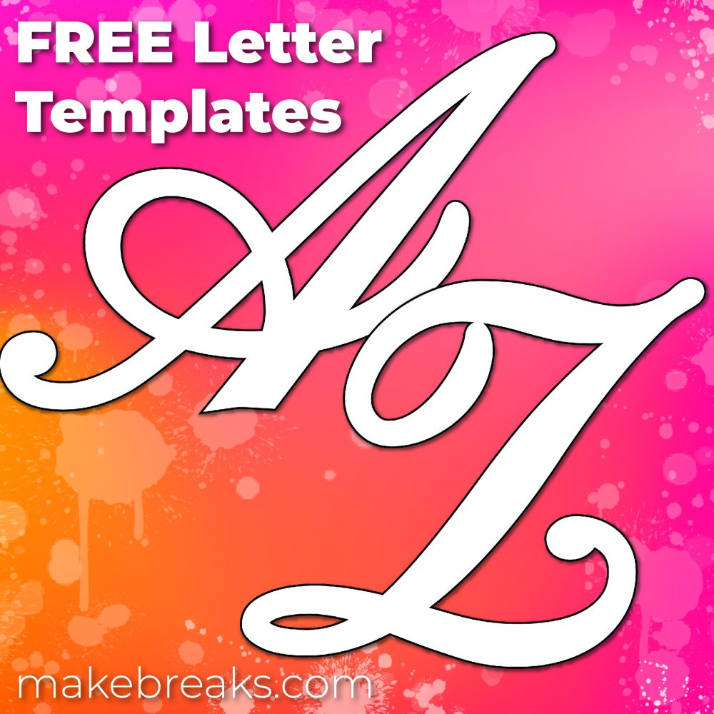 Free Printable Large Letters for Walls & Other Projects – Upper Case