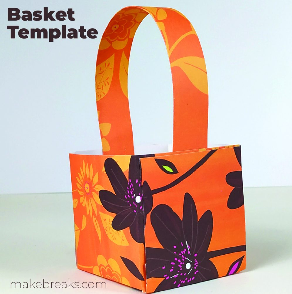 Easy Cube Paper Basket With Free Template