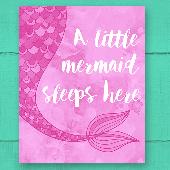 Free Printable 'A Little Mermaid' Poster