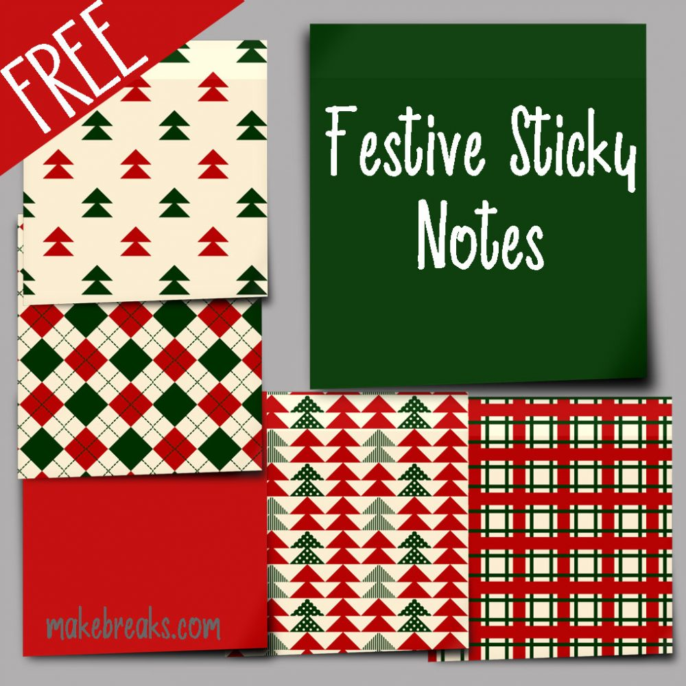Festive Digital Sticky Notes for Digital Planners