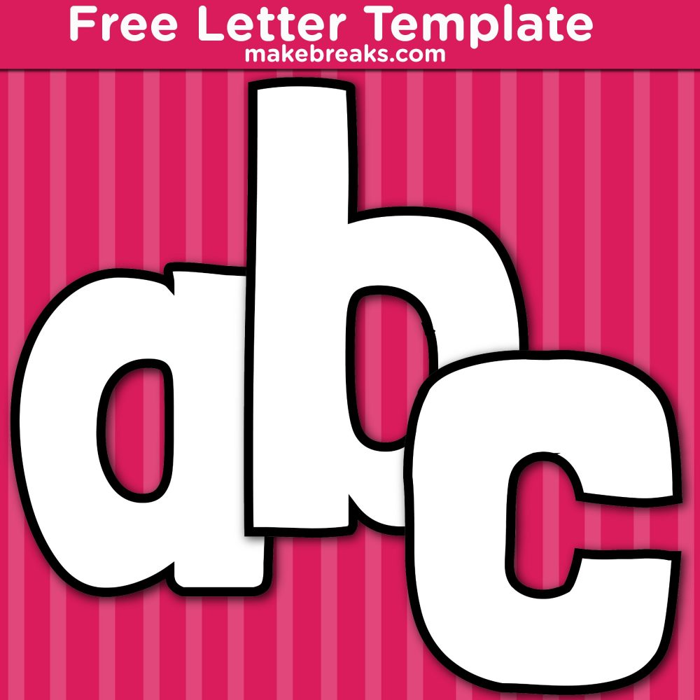 Free Printable Lower Case Letter Templates