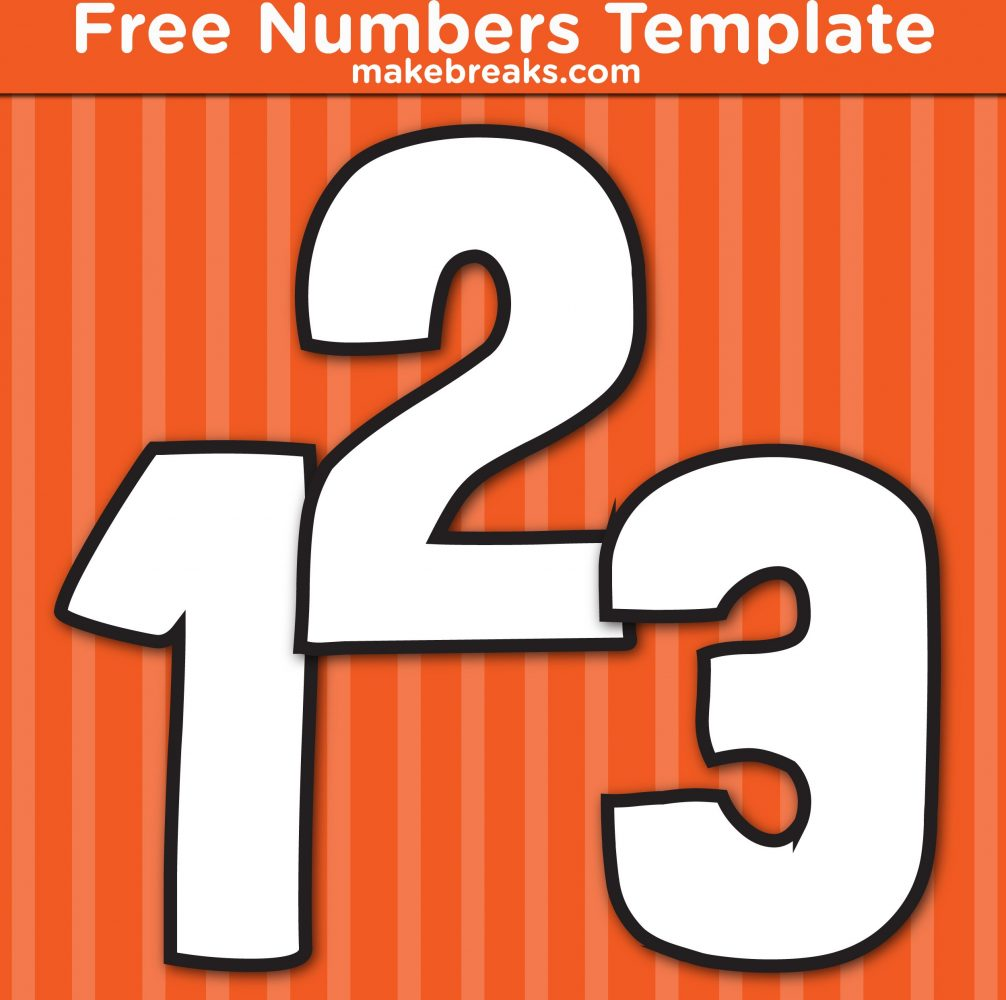 Free Printable Hand Drawn Number Templates