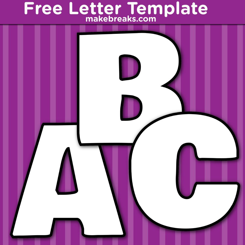 Free Printable Bold Letters Templates