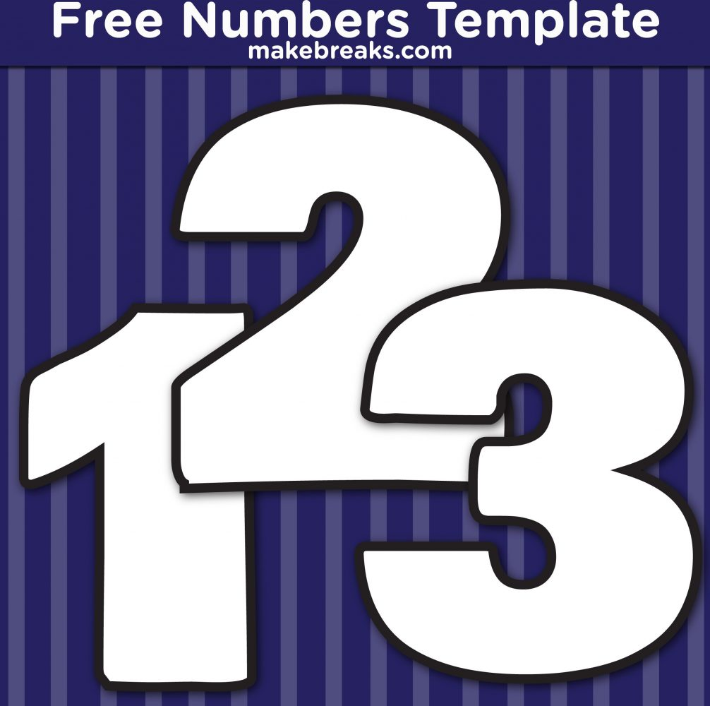 Free Printable Bold Number Templates