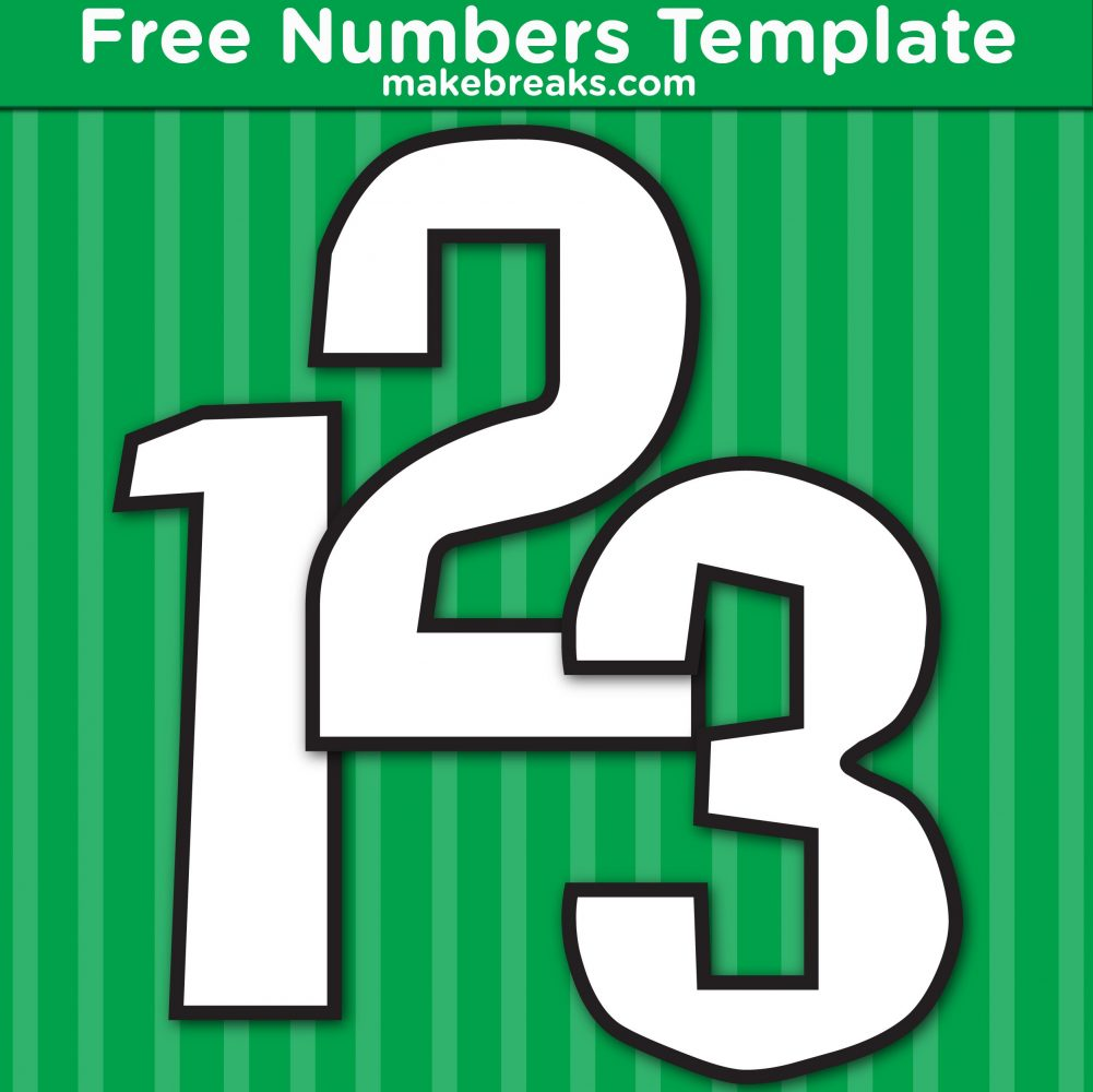 Free Printable Square Inner Number Templates