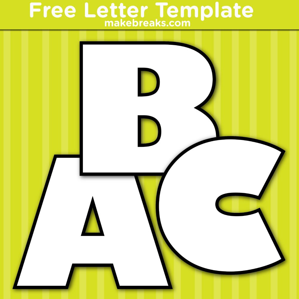 Free Printable Letters Templates