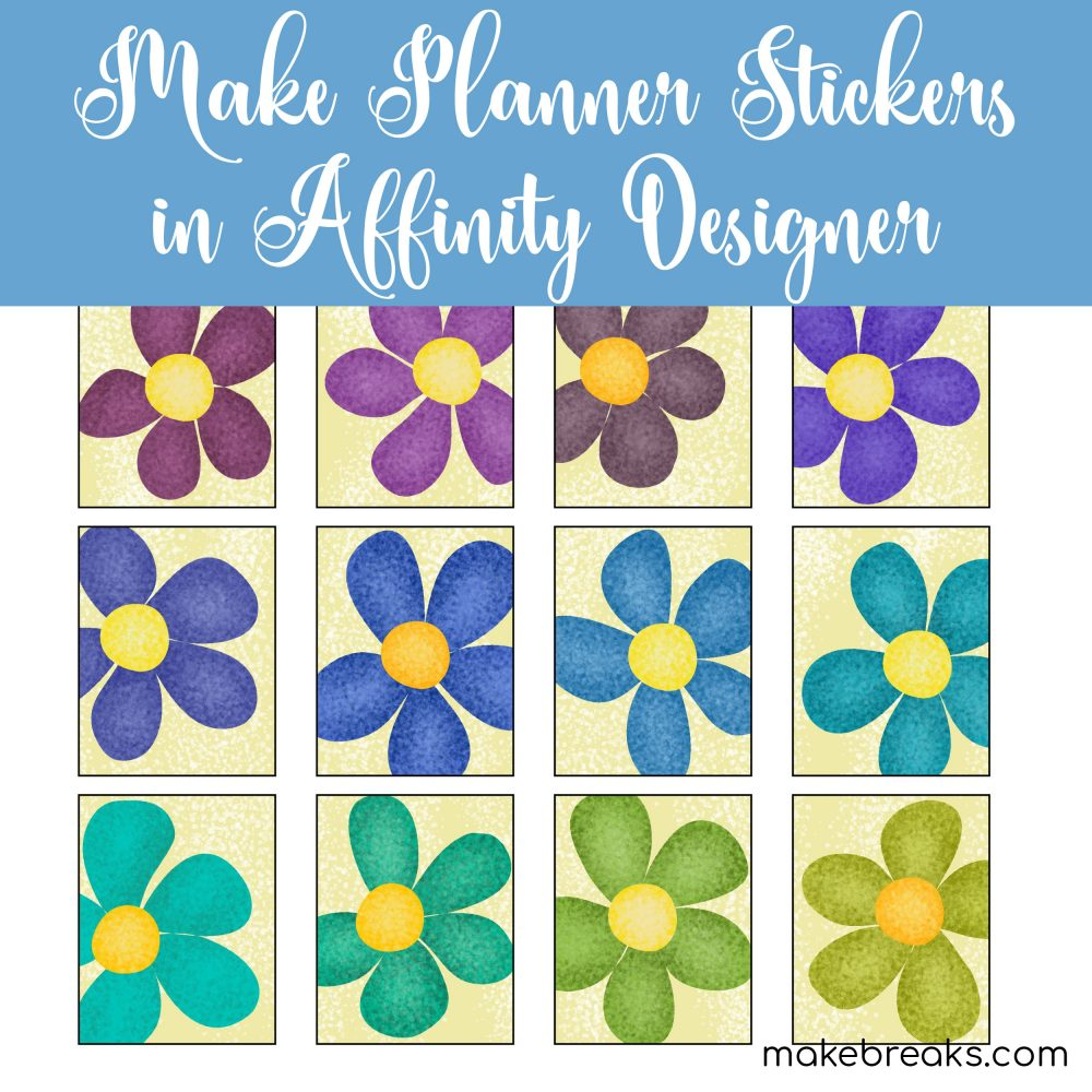 How to Make Planner Stickers in Affinity Designer for iPad