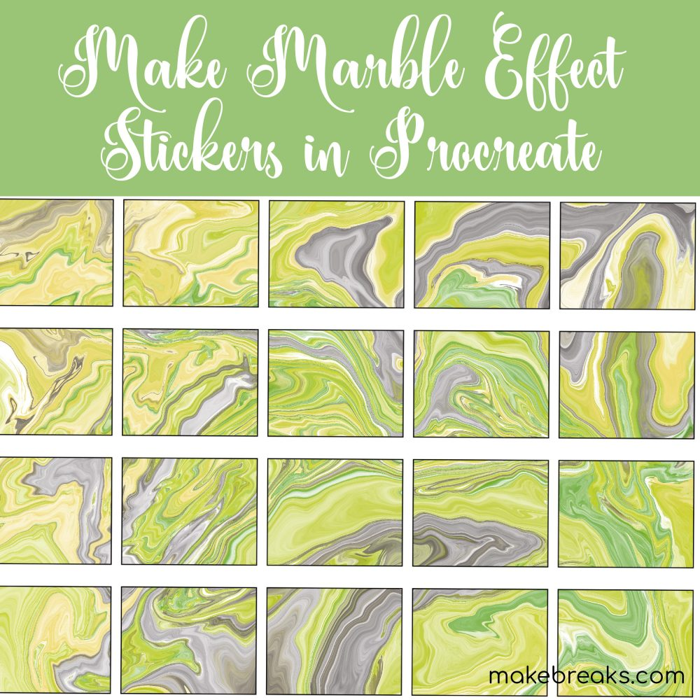 How to Create Marble Effect Stickers in Procreate