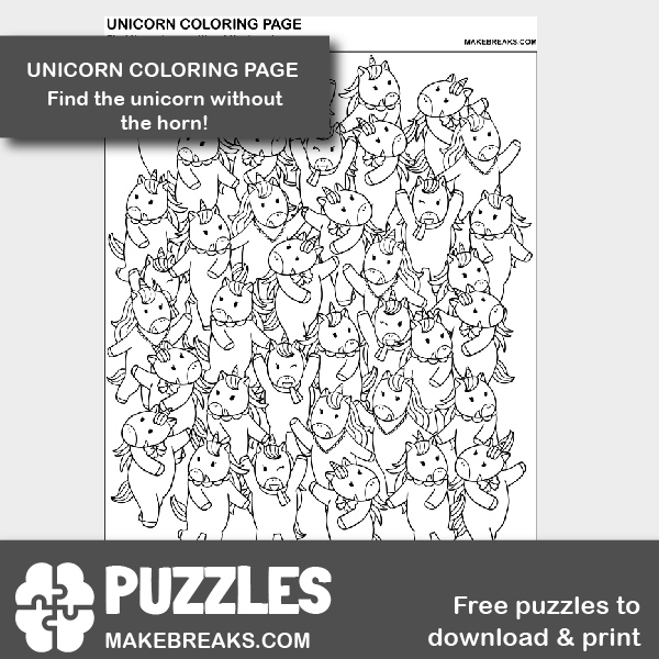 find the unicorn no horn PV-01
