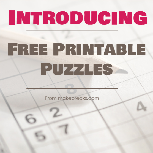 Introducing Free Printable Puzzles – Stay At Home Activities