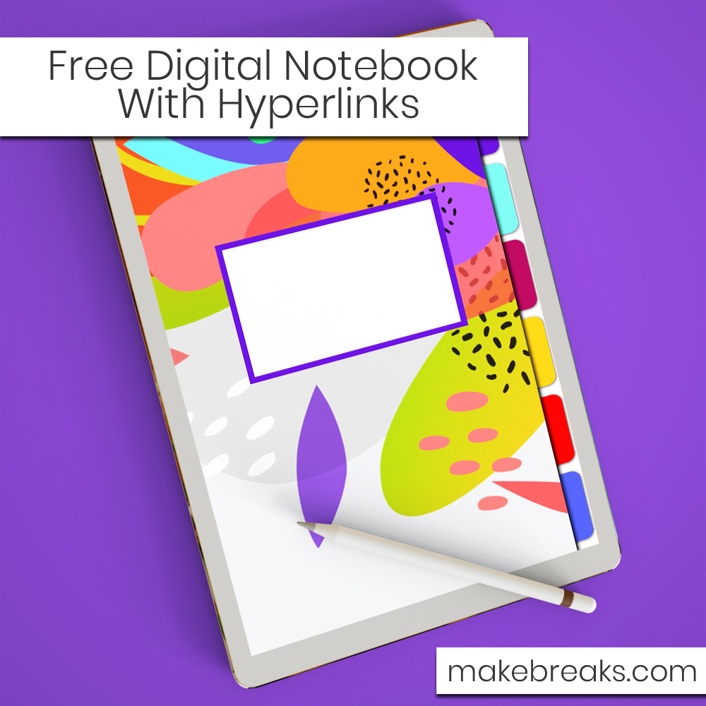Hot Tropical Floral Pattern Free Digital Notebook with Hyperlinks – for Goodnotes & Other PDF Readers